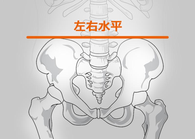 1.骨盤が左右水平になっている