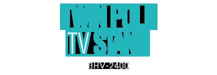 ツインポールテレビスタンド BHV-2400-BK