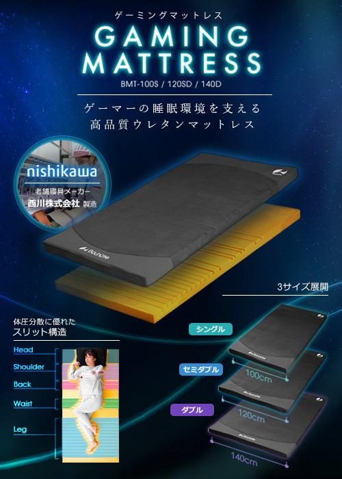 ゲーミングマットレスBMT-100S / 120SD / 140D